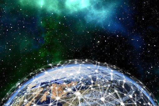 Network, Earth, Block Chain, Globe