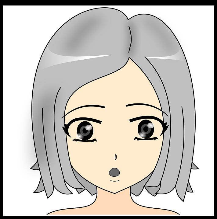 Drawing Girl Surprise Free Image On Pixabay
