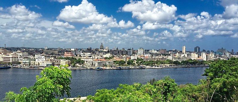 Kuba, Havanna, Himmel, Bucht, Landschaft