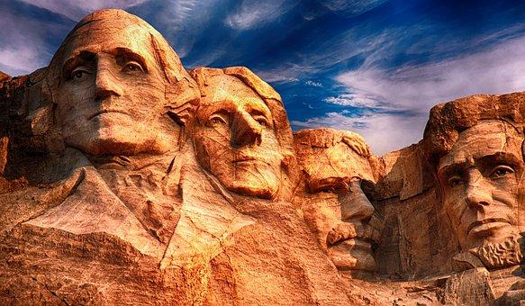 ラシュモア山, 彫刻, 記念碑, ランドマーク, 国家, ダコタ