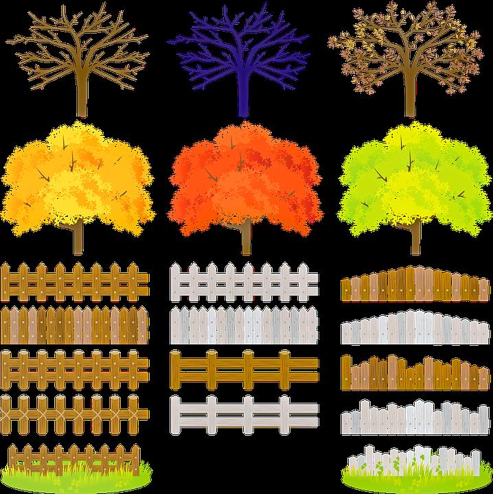 Landschaftsbau Baume Zaun Kostenloses Bild Auf Pixabay