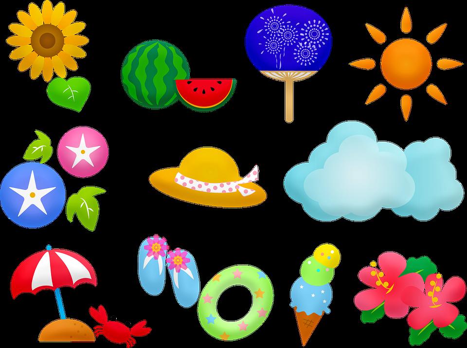 Lody, Lato, Arbuz, Słońce, Poślubnik, Słonecznik