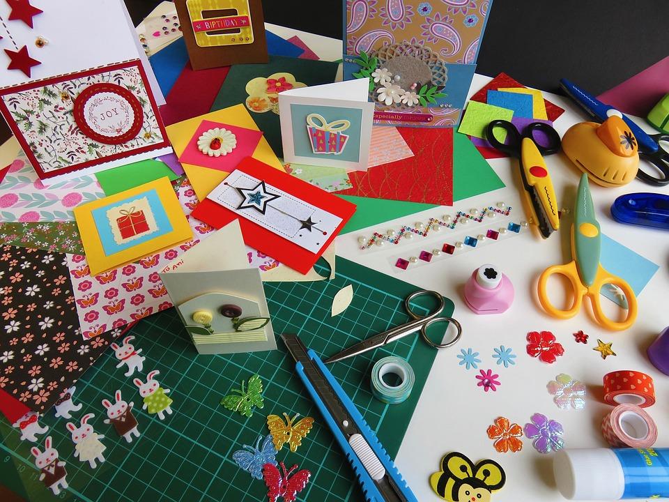 Craft Paper Card Making Free Photo On Pixabay