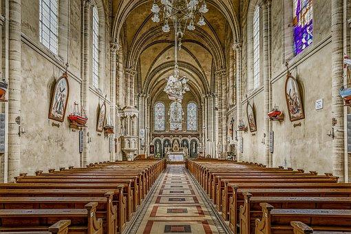 Church, Empty, Architecture, Building