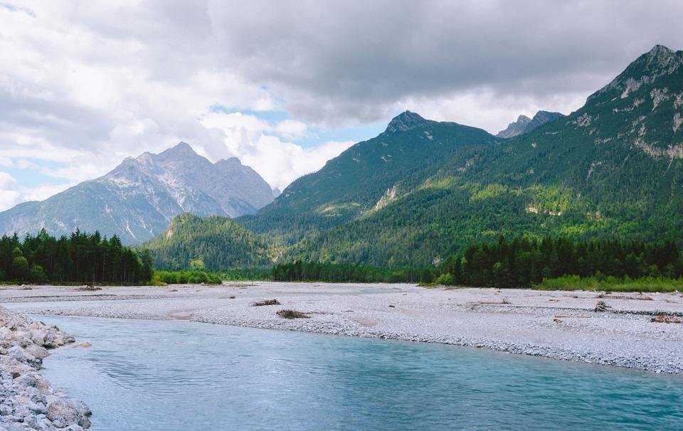 Tiroler Lechtal, Österreich, Tirol, Lech, Fluss