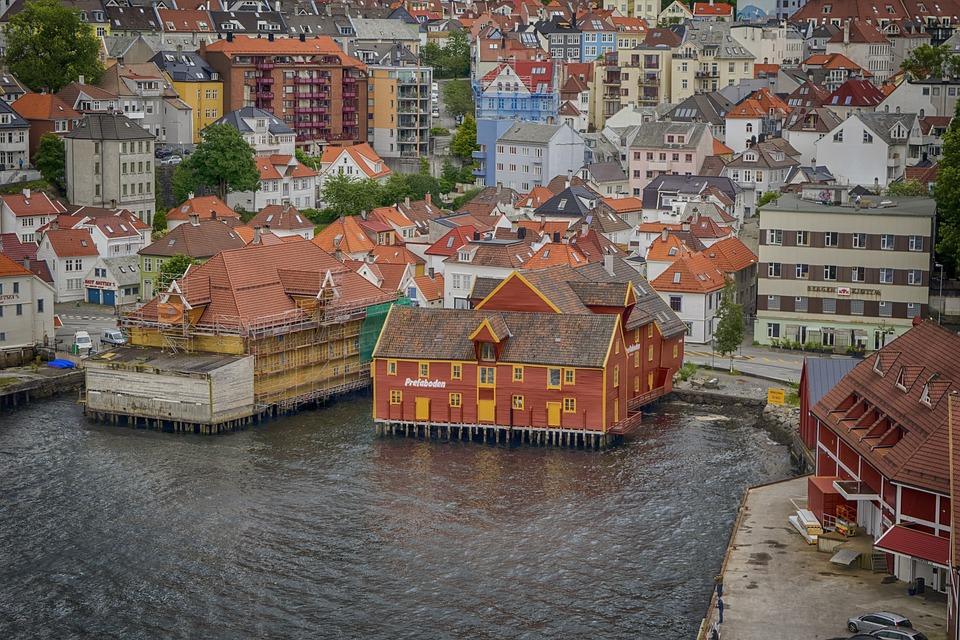 Paysage, Bergen, Norvège