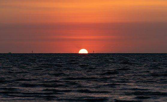 Sonnenuntergang, Landschaft, Nordsee