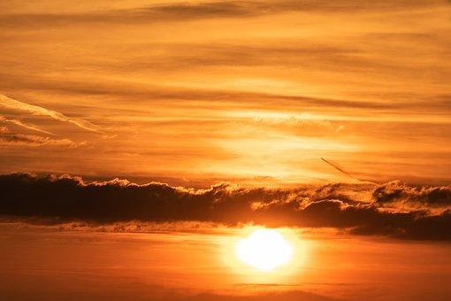 태양, 일몰, 하늘, 기분, 자연, 황혼, Abendstimmung