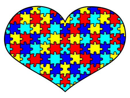 Autism, Awareness, Puzzle, Heart, Love