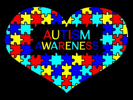 Hjärtat, Autism Awareness, Stöd, Kärlek