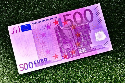 Euro, 500, Dollar Bill, Money, Currency