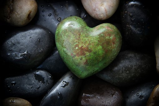 Stones, Hell, Dark, Green, Heart, Water