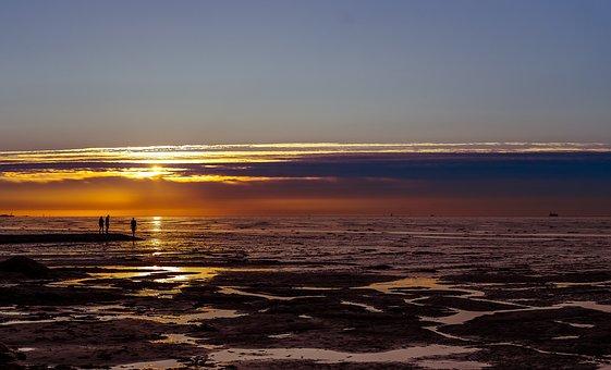 Sonnenuntergang, Landschaft, Natur an der Nordsee