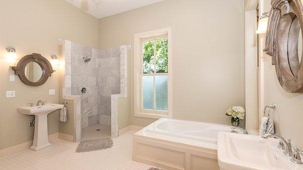Bathroom, Standing Shower, Bathtub, Sink