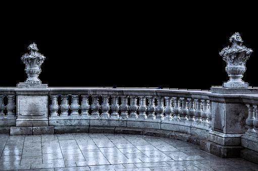 Balcony, Antique, Ground, Pillar