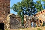 ruiny, kamienny mur, zamek