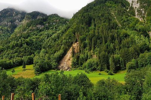 Geology, Slip, Mountain, Landslide