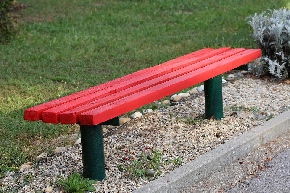 Awesome Red Bench Park Green Free Photo On Pixabay Gmtry Best Dining Table And Chair Ideas Images Gmtryco