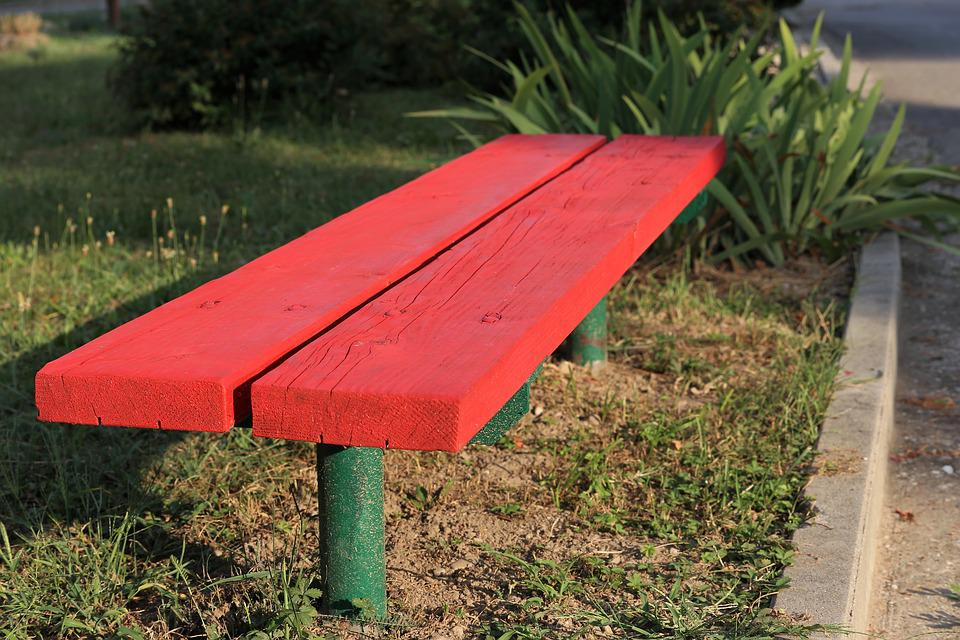 Outstanding Red Bench Park Green Free Photo On Pixabay Gmtry Best Dining Table And Chair Ideas Images Gmtryco