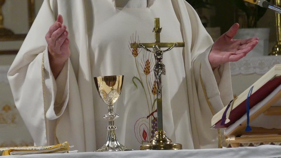 Priest, Cross, Religion, Church, Christianity, Faith