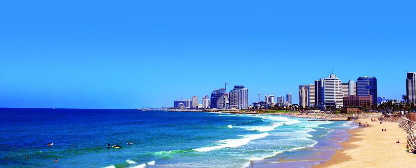 Tel Aviv, Jaffa, Israël, Soleil, Plage