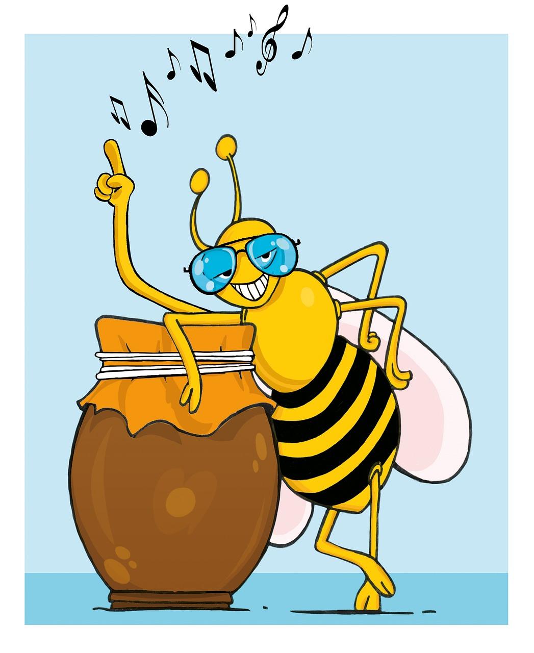 Картинка прикольная пчела для мобильного это