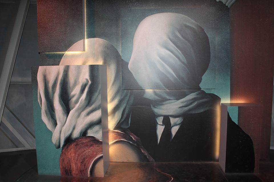 Magritte, Painting, Couple, Psychotherapy, Woman, Man