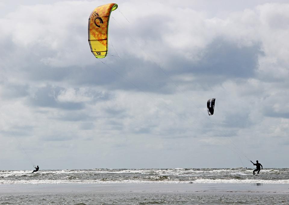 Denmark, Romo, Beach, North Sea, Kite Surfing, Sea