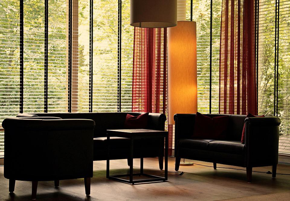 Lobby, Lounge, Seat, Lamps, Impression, Window