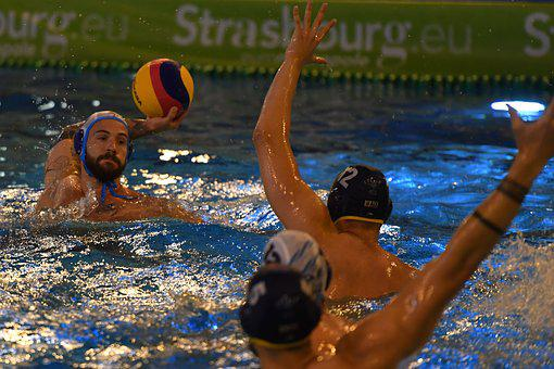 Water-Polo, Piscine, Nageur, Water Polo