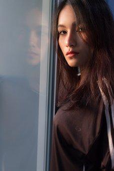 Beauty, Beautiful Woman, Hotel, Red Lips