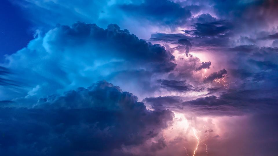 Thunderstorm, Lightning, Flashes, Flash, Weather, Sky