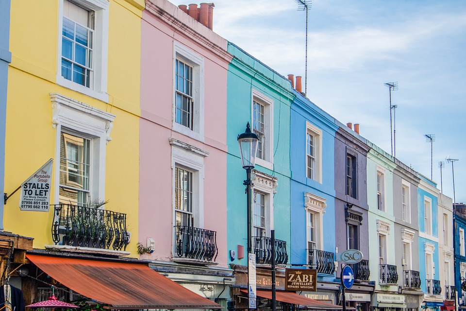 Londres, Nottinghill, Portobello Road, L'Architecture