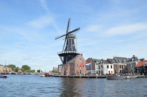 Haarlem, Water, Holland, Meer, Stad