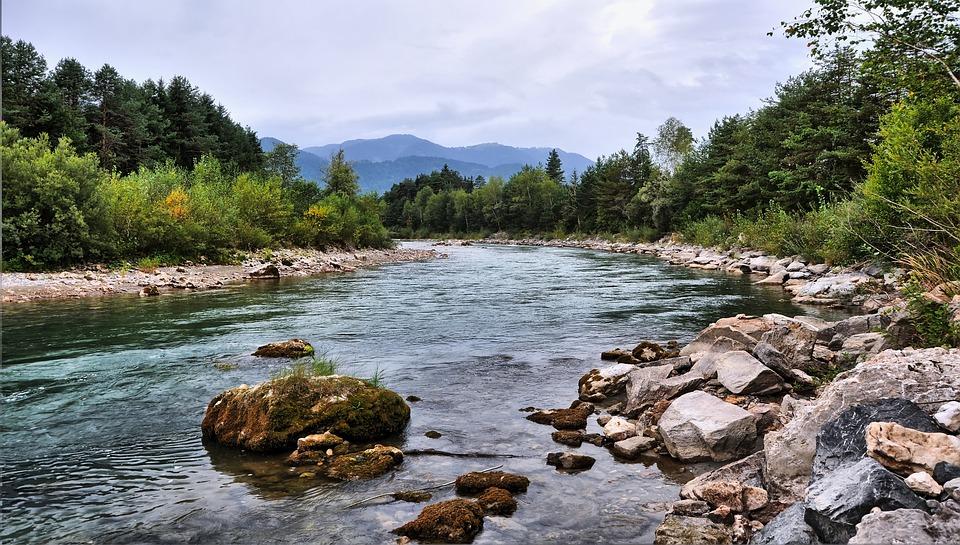 Река, Камень, Вода, Горы, Природа, Пейзаж, Альпы