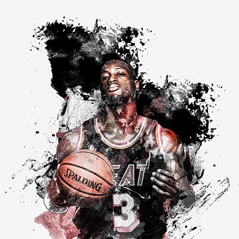 Nba, Basketball, Miamiheat, Ball, Sketch