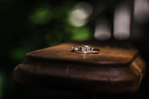 婚約指輪, ダイアモンドの指輪, エンゲージメント, 結婚式