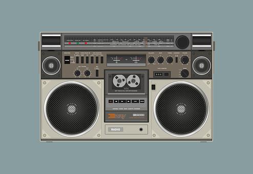 Radio Cassette, Speaker, Sound, Audio