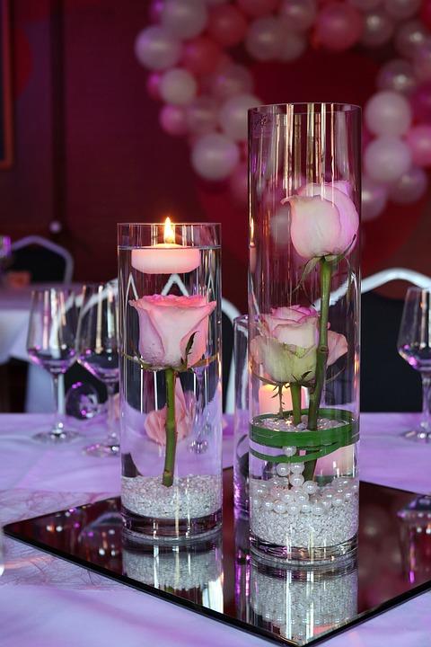 Kerzen Blumen Kostenloses Foto Auf Pixabay