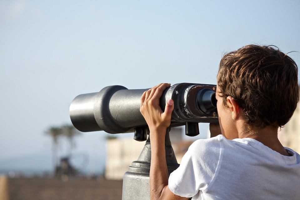 Binoculars, Future, Outdoors, Discovery, Trip, Holiday