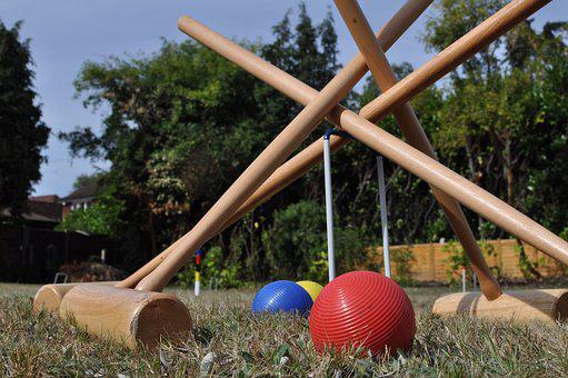 Croquet, Garden, Summer, Sport, Party