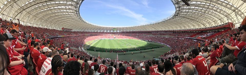 Estadio, Lleno De Gente, Fútbol, Personas, Evento
