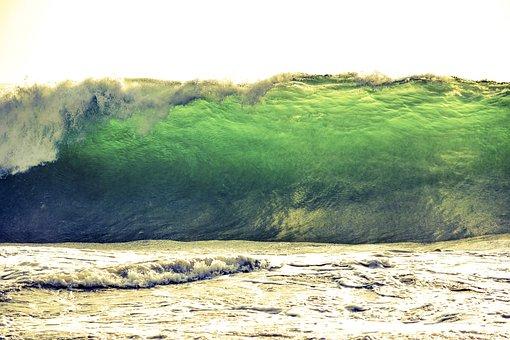 Tsunami, Wave, Sea, Surf, Beach, Ocean