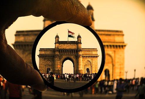 Ấn Độ, Mumbai, Cờ, Quốc Kỳ Ấn Độ, Bombay