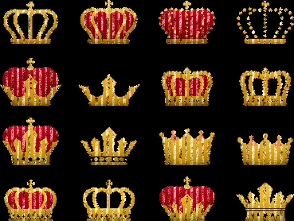Coronas Rey Oro Imagen Gratis En Pixabay