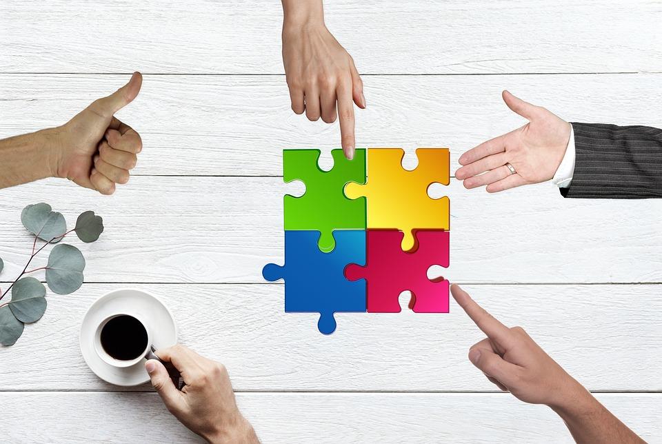 チーム, 建物, 仕事, チームワーク, コラボレーション, 協力, 達成, 一緒に, グループ, スタッフ