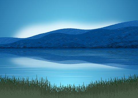 Landscape, Nature, Mountains, Sky, Blue