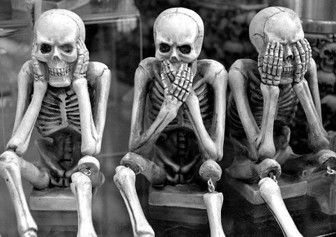Skeletons, Funny, Hear No Evil