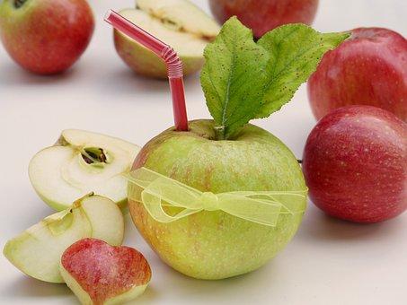 Apple, Straw, Heart, Vitamins, Health