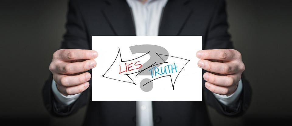 Truth, Lie, Business, Presentation, List, Show, Keep